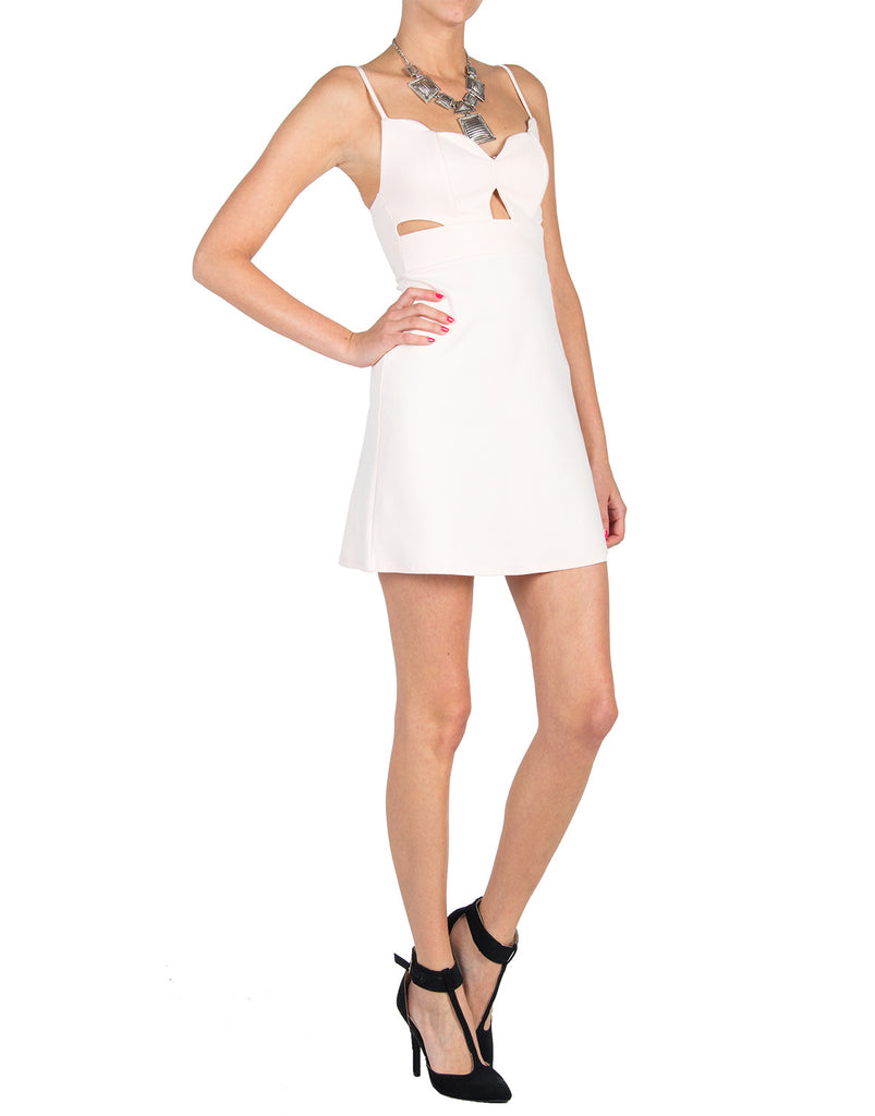 Cut Outs Scalloped Neckline Dress - 2020AVE