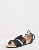 Deail of Cut Out Strappy Ballerina Flats