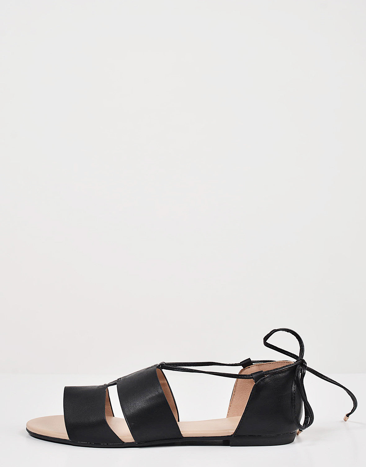 Cut Out Strappy Ballerina Flats