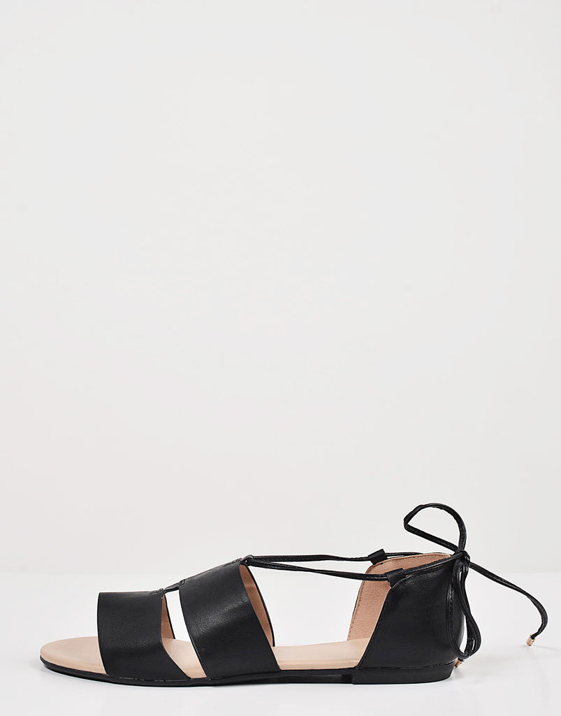 Cut Out Strappy Ballerina Flats - 2020AVE