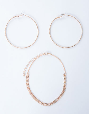Dainty Choker and Earring Set