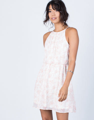Front View of Dainty Floral Dress