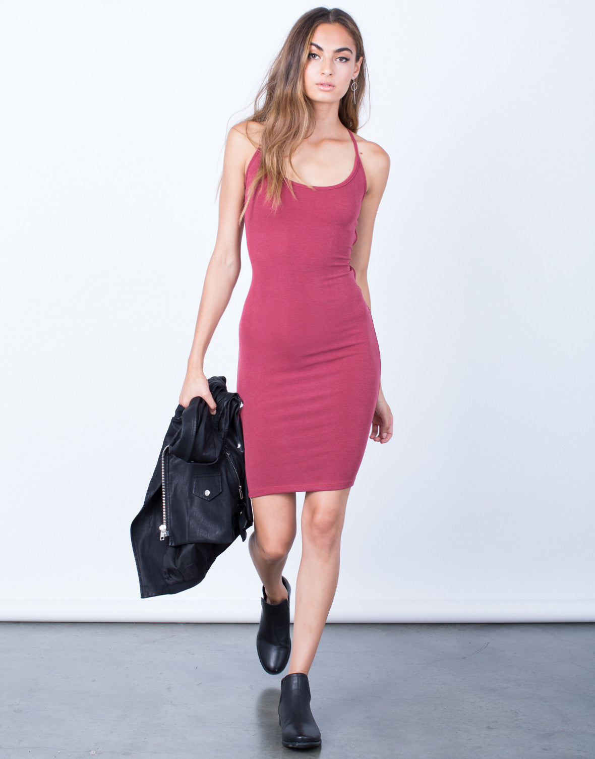 Front View of Dance With Me Bodycon Dress