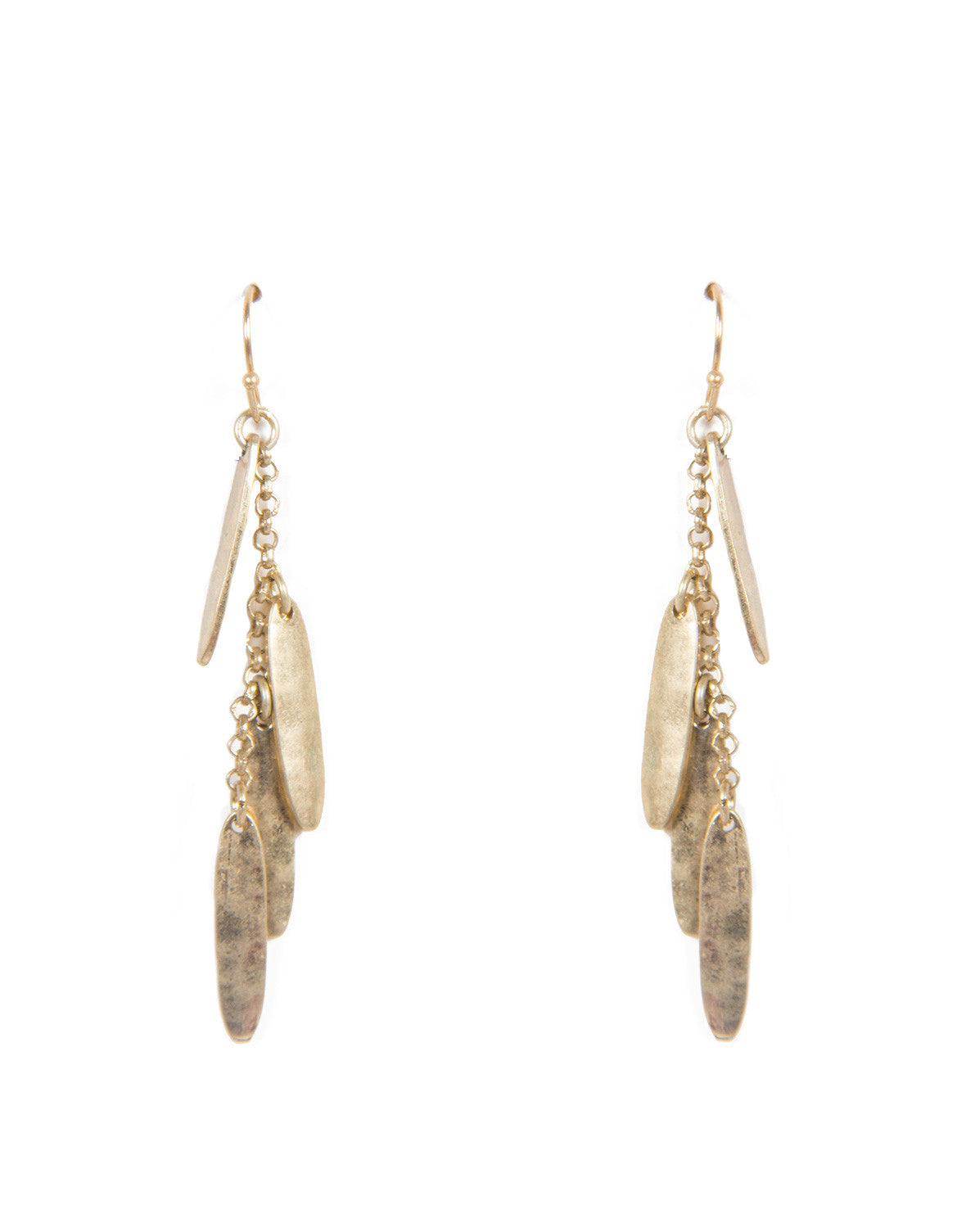 Dangling Metal Earrings - Gold