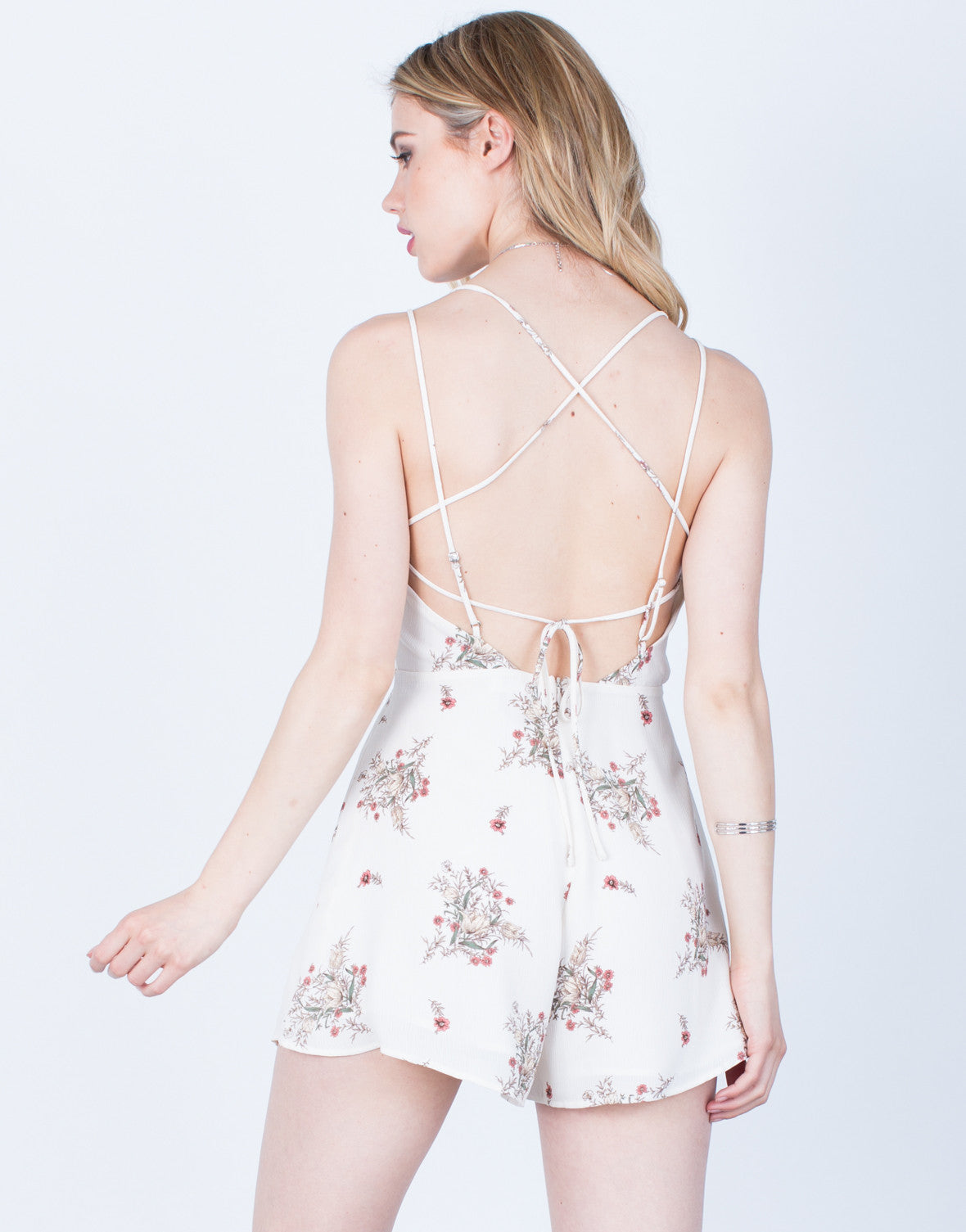 Back View of Daylight Floral Romper