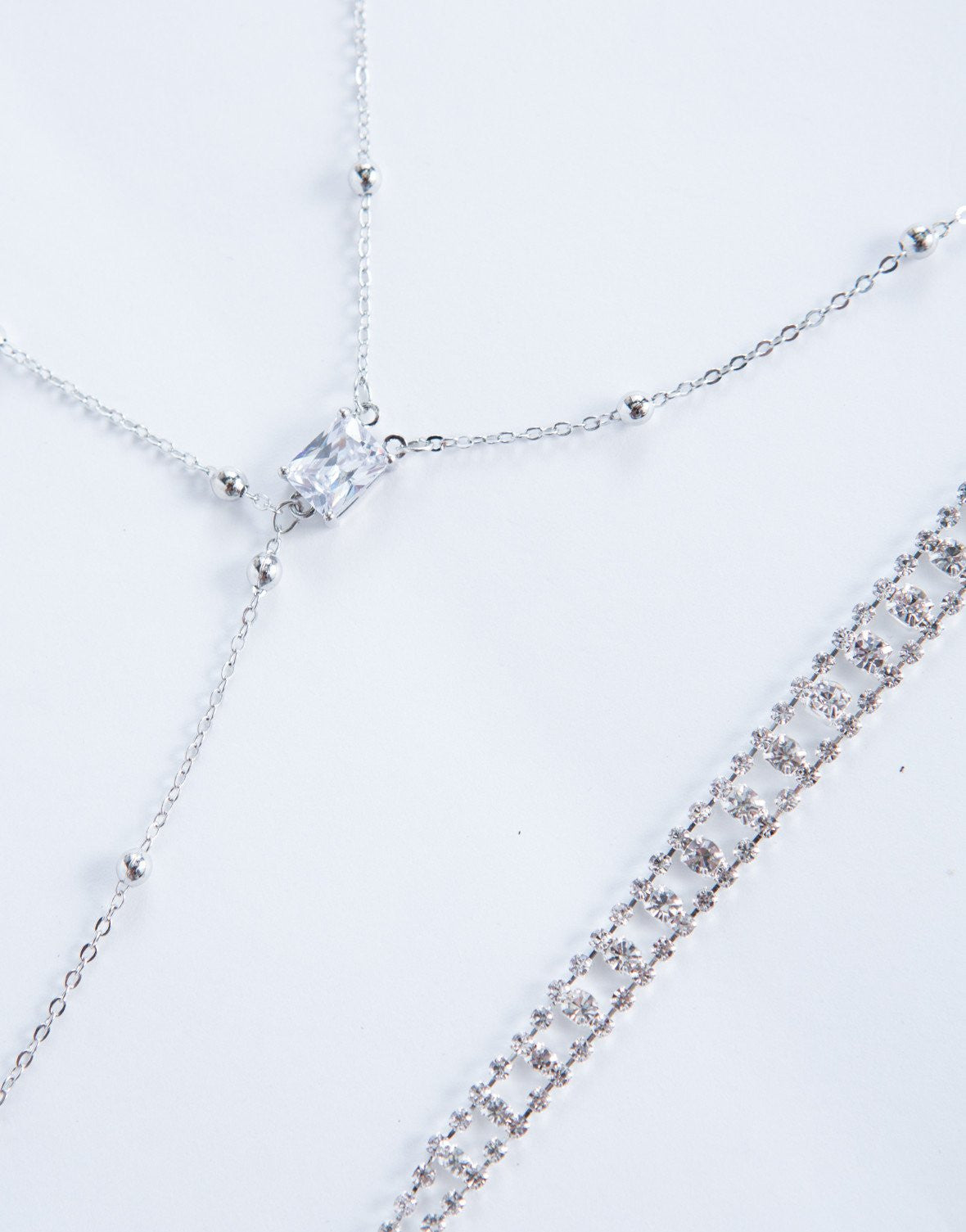 Silver Dazzle Me Body Chain - Detail