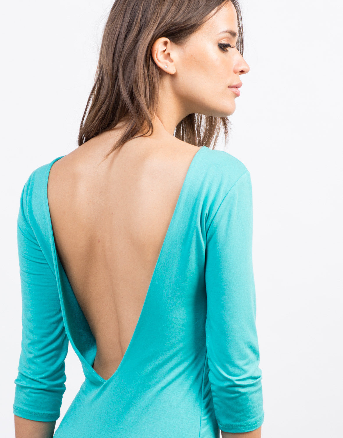 Detail of Deep Back Bodycon Dress