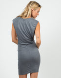 Back View of Deep Side Cut Out Jersey Dress