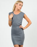 Front View of Deep Side Cut Out Jersey Dress