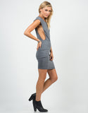Side View of Deep Side Cut Out Jersey Dress