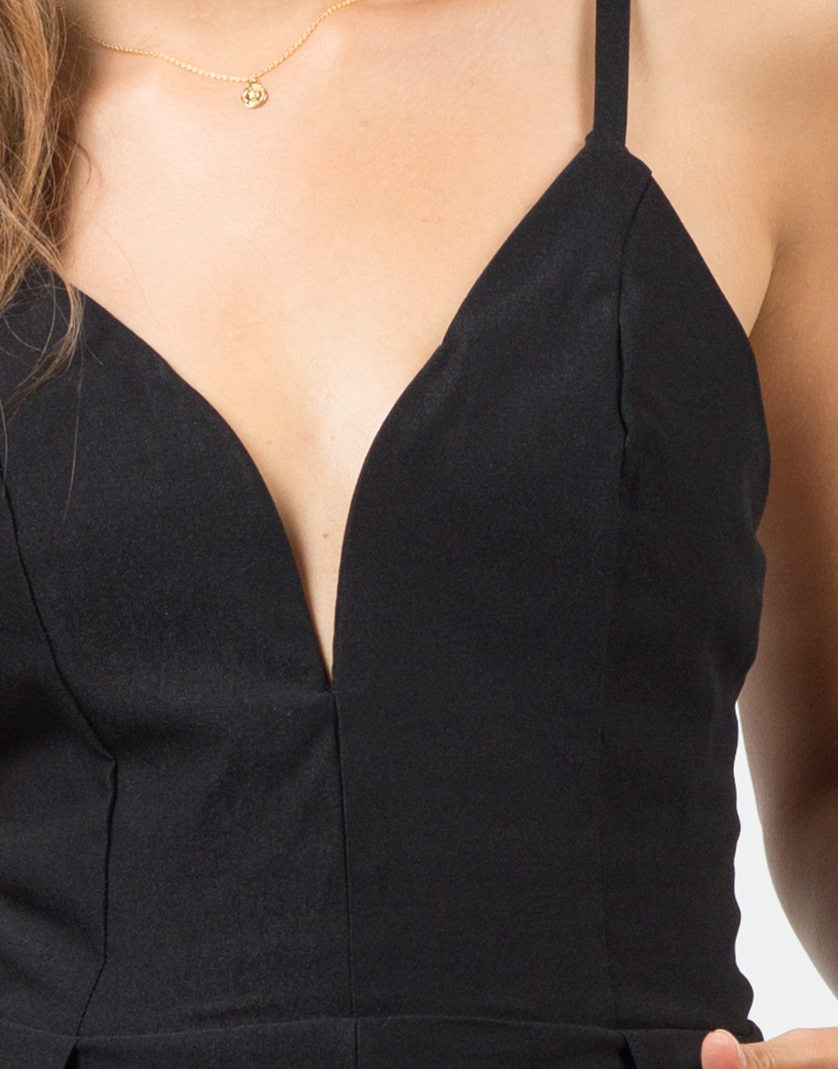 Detail of Deep Sweetheart Romper