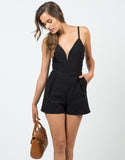 Front View of Deep Sweetheart Romper
