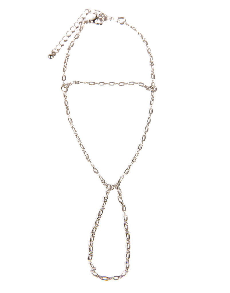 Delicate Chained Hand Chain - Silver - 2020AVE