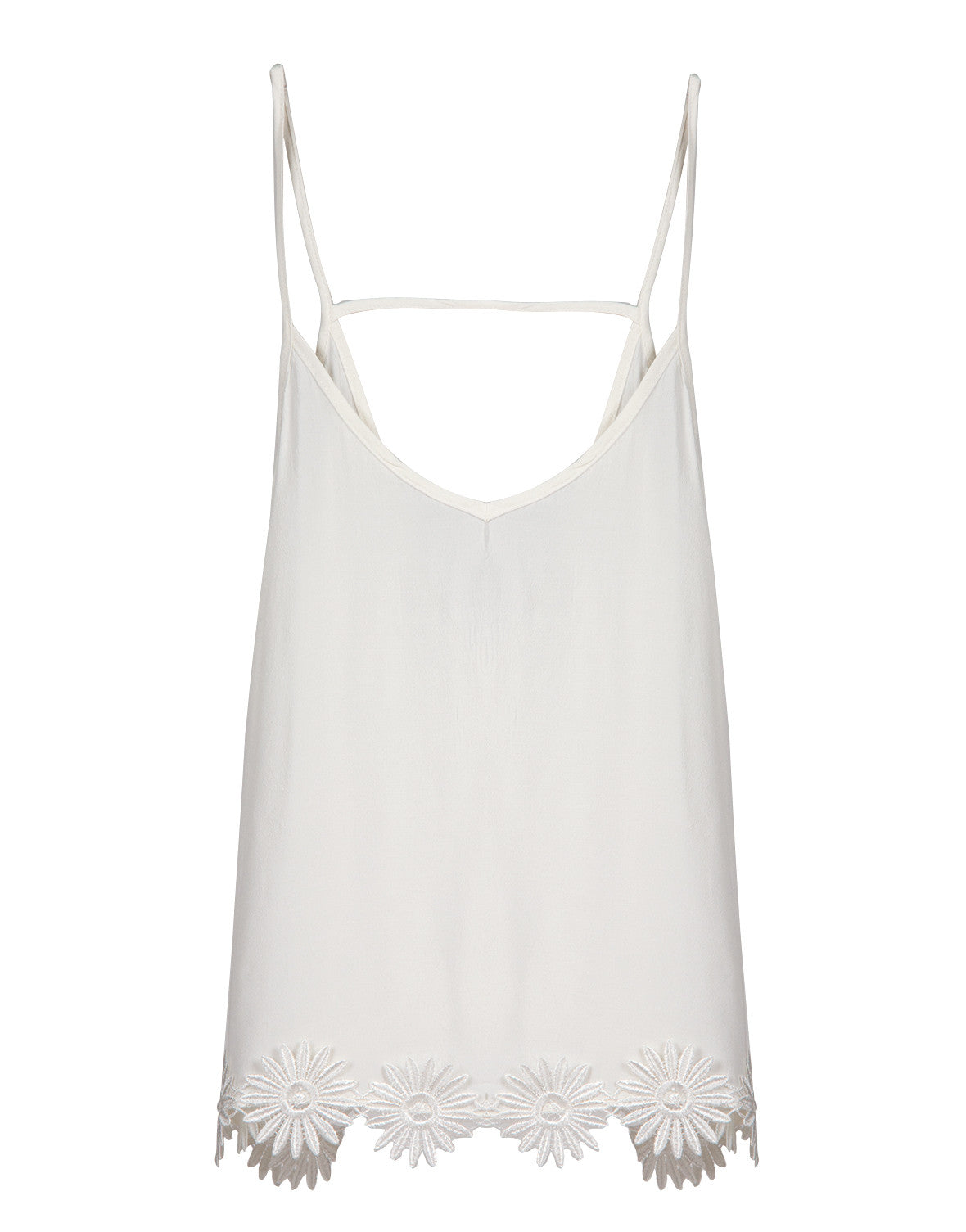 Delicate Floral Detail Tank
