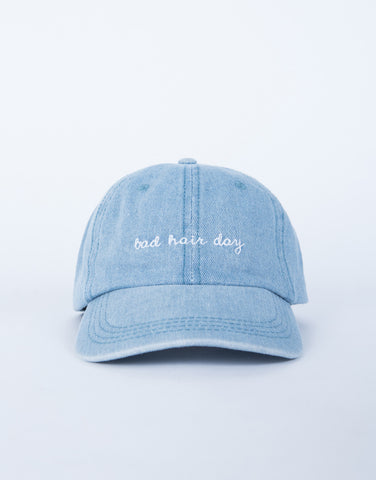 Denim Bad Hair Day Cap