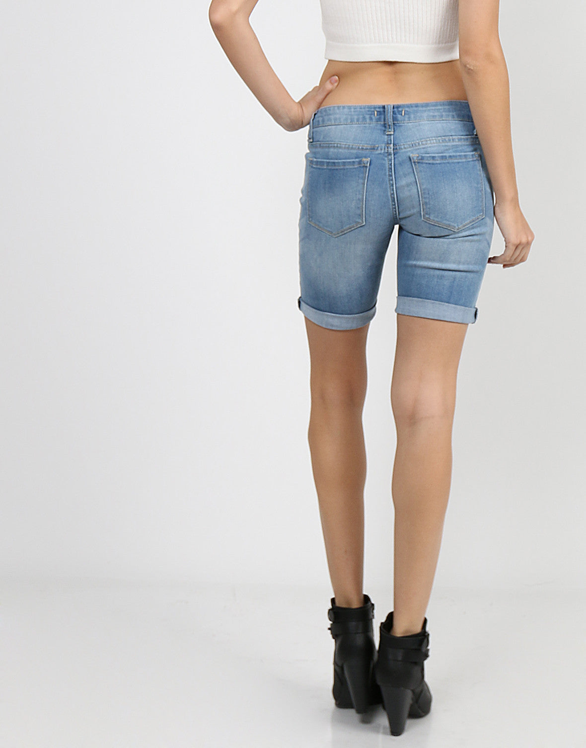 Denim Bike Shorts