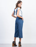 Back View of Denim Culotte Jumpsuit