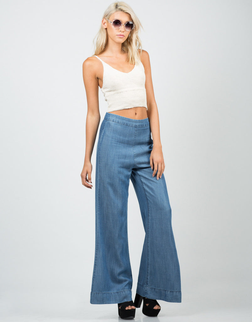Denim Flared Pants - 2020AVE