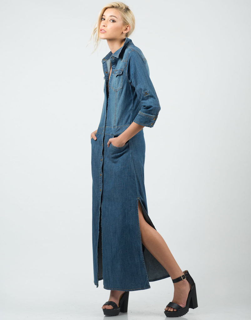 Denim Maxi Dress - 2020AVE
