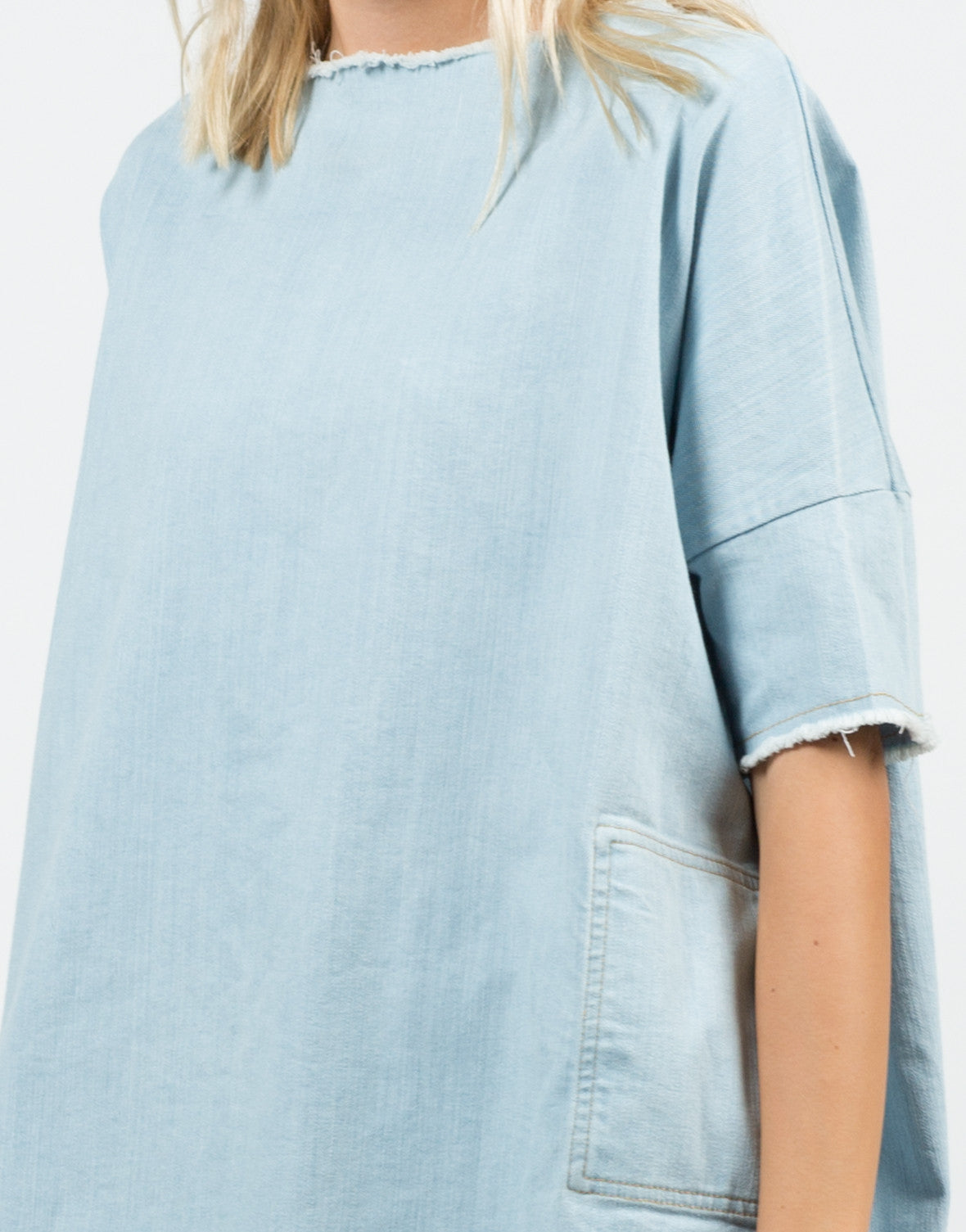 Detail of Denim Shirt Dress