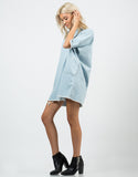 Side View of Denim Shirt Dress