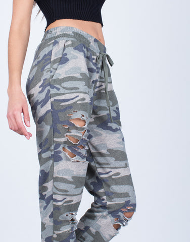 Destroyed Camo Joggers