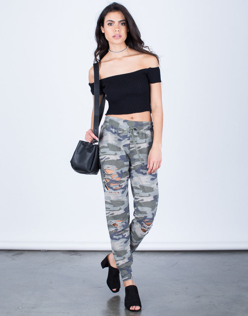 Destroyed Camo Joggers - 2020AVE