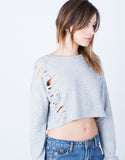 Detail of Destroyed Cropped Sweater