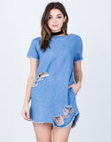 Destroyed Denim Dress - 2020AVE