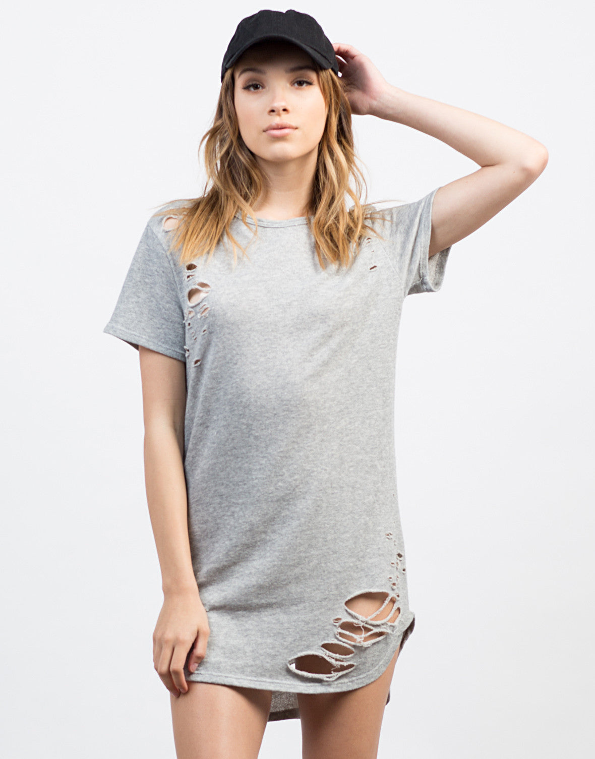 Front View of Destroyed Tee Dress