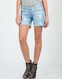 Destroyed Foldover Bermuda Shorts - 2020AVE