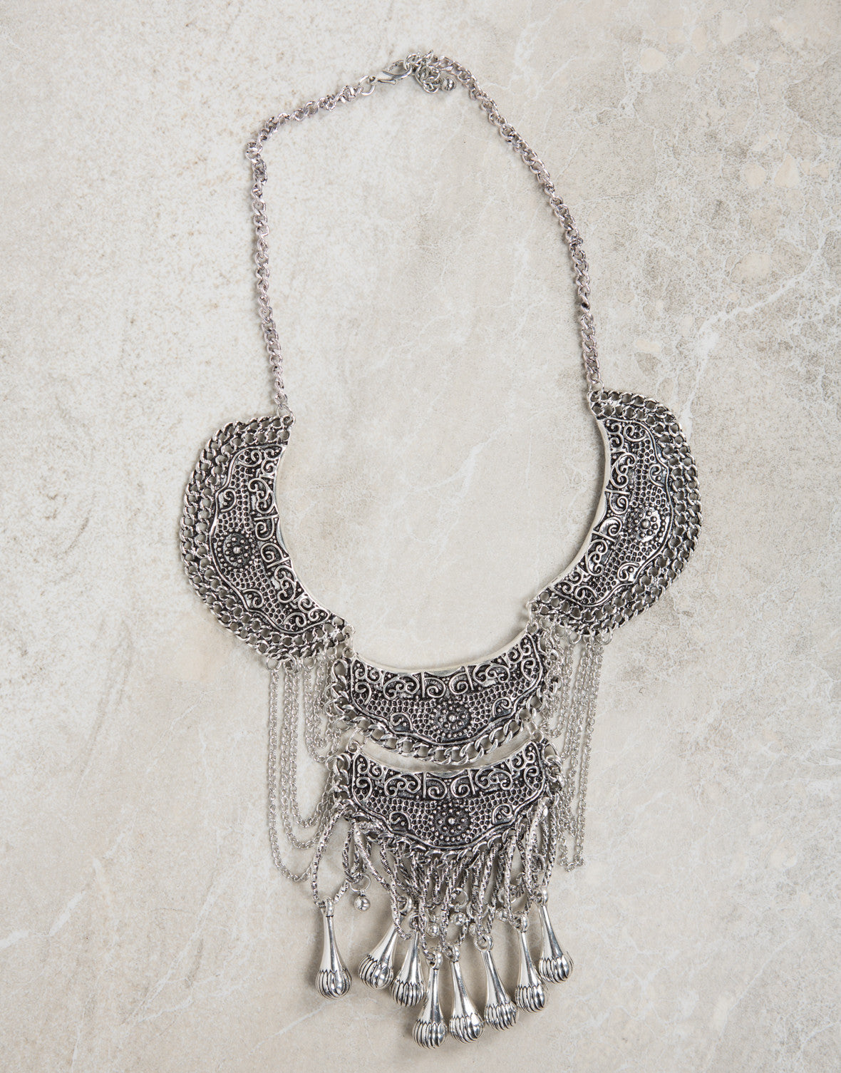 Detailed Chandelier Necklace