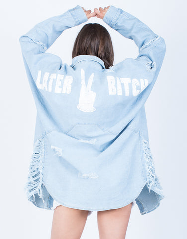 Back View of Deuces Denim Jacket