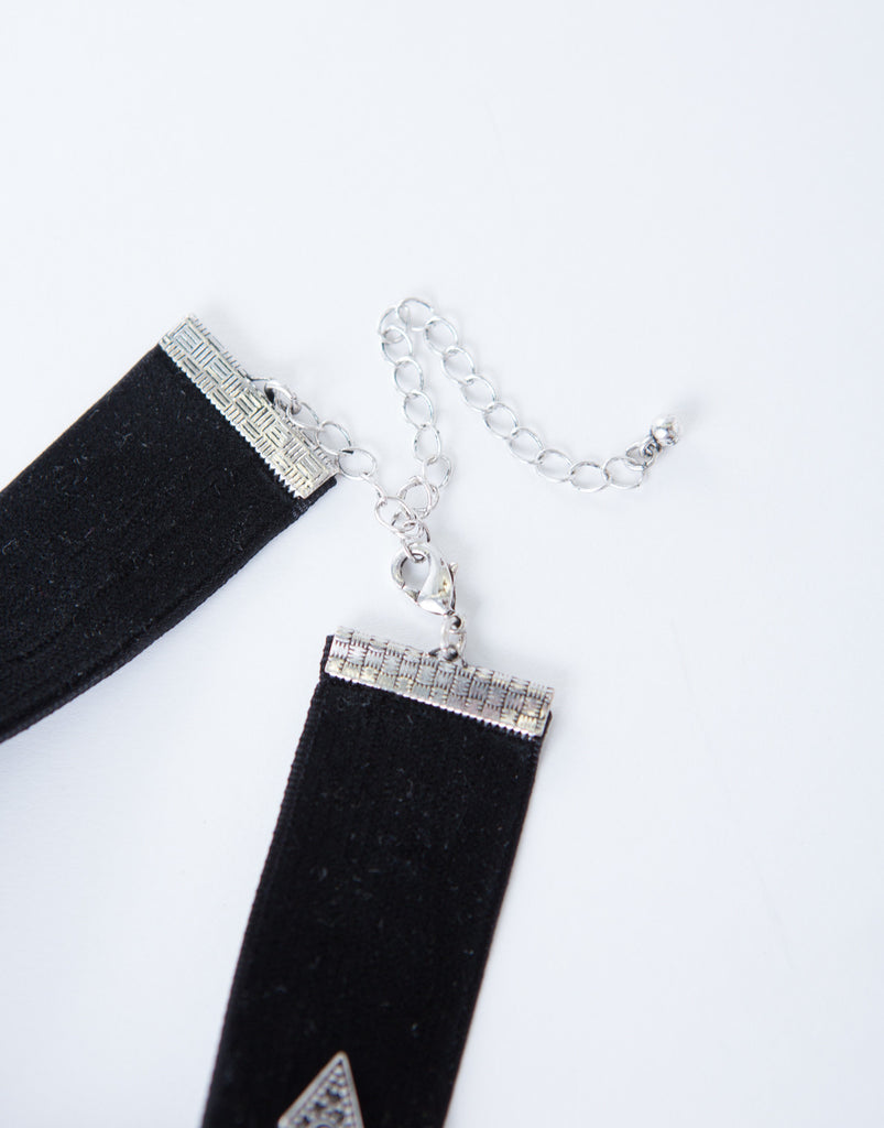 Diamond Velvet Choker