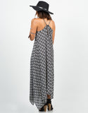 Back View of Diamond Abstract Maxi Dress