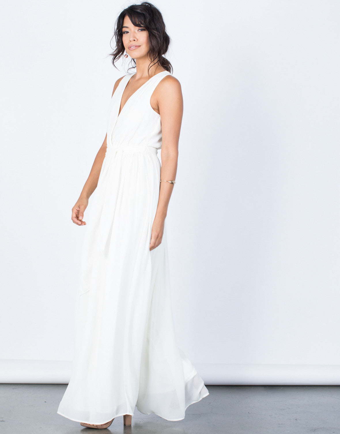 Side View of Diana Maxi Dress