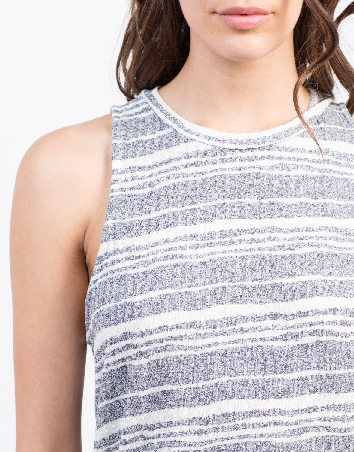Detail of Different Stripes Tunic Tank