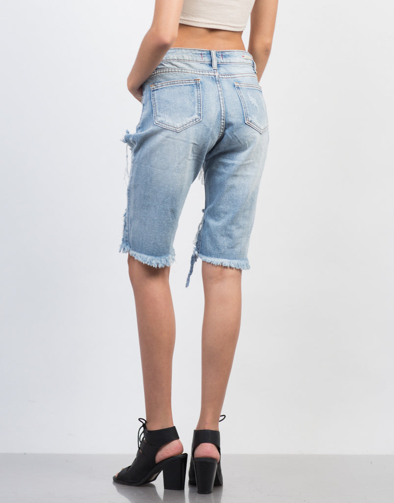 Distressed Boyfriend Bermudas - 2020AVE