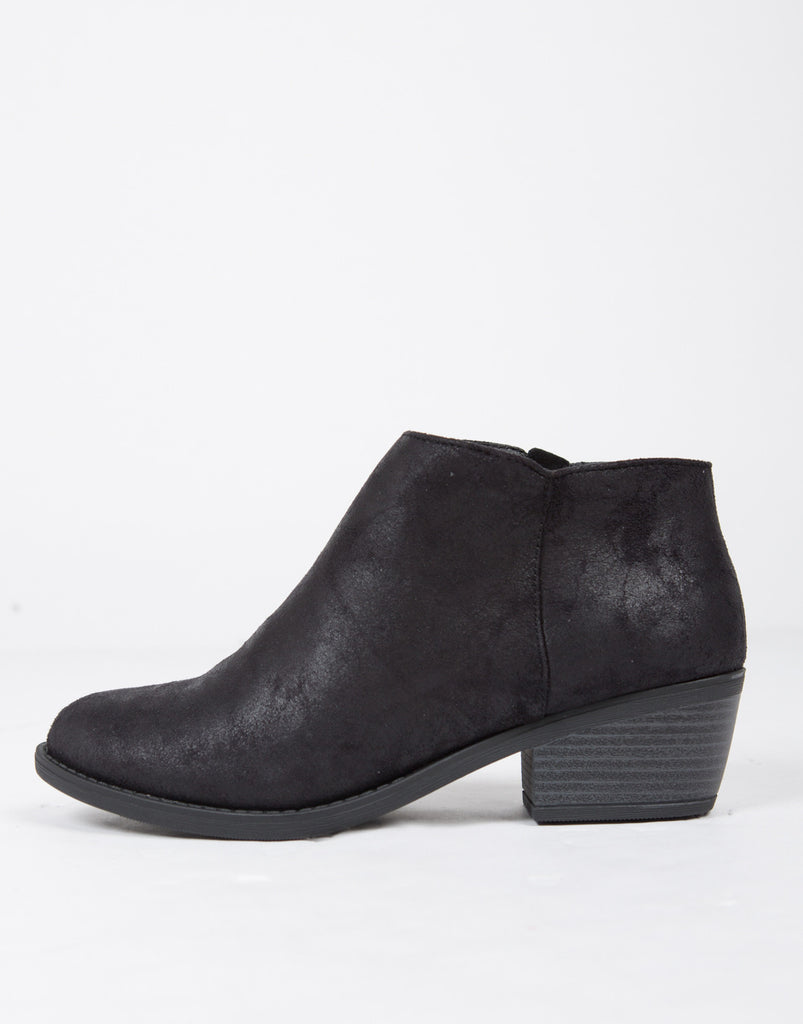 Distressed Ankle Boots - 2020AVE