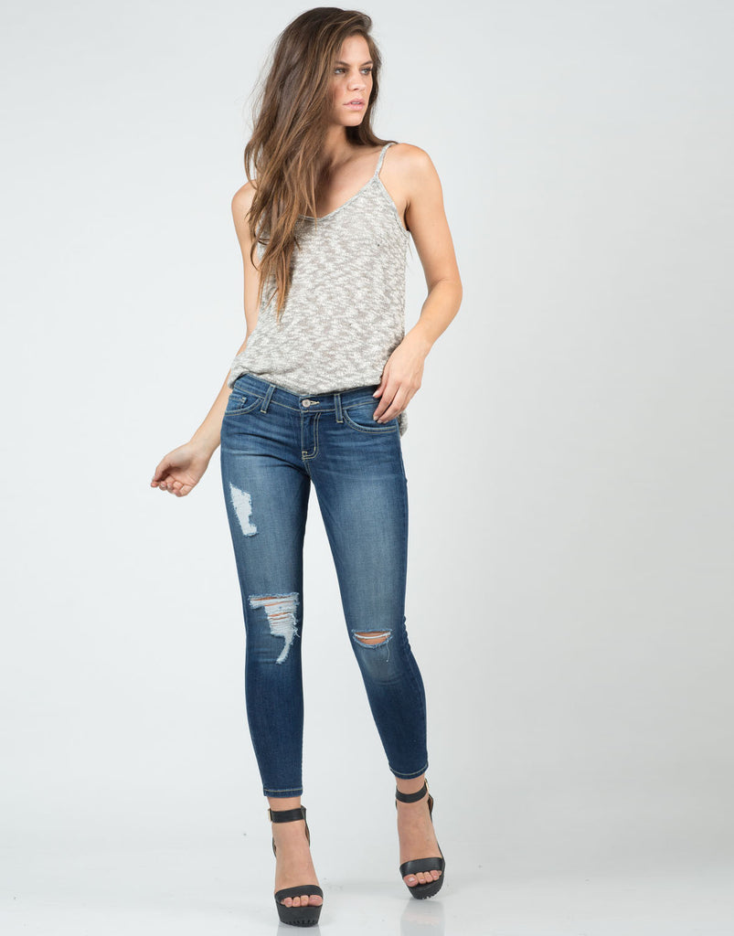 Distressed Denim Capri - 2020AVE