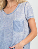 Detail of Distressed Heathered Tee