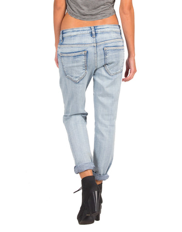 Distressed Lightwash Boyfriend Jeans - Cello Jeans WV13244BF-Light Blue