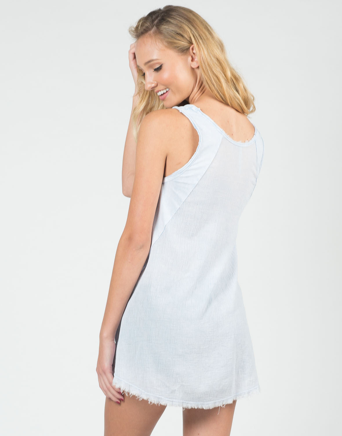 Back View of Distressed Lightweight Flowy Tank