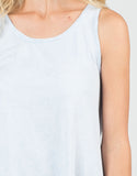 Detail of Distressed Lightweight Flowy Tank