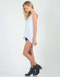 Side View of Distressed Lightweight Flowy Tank