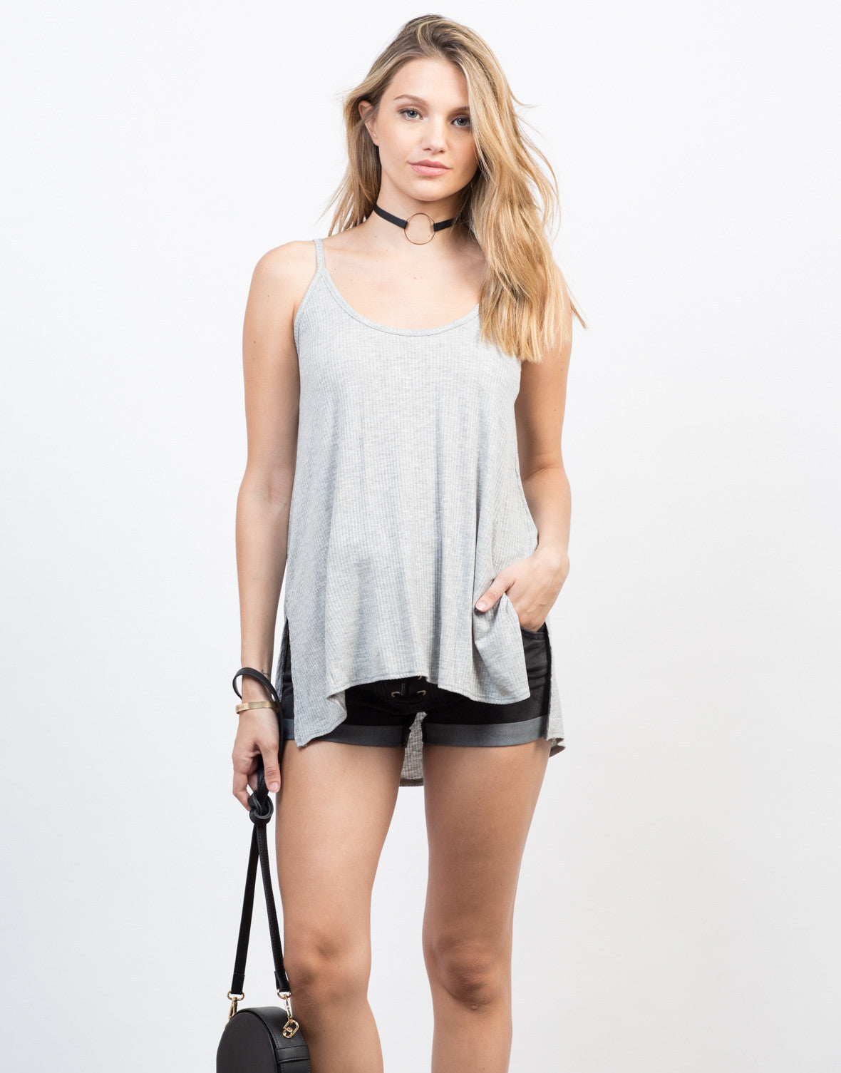 Front View of Do the Criss Cross Cami