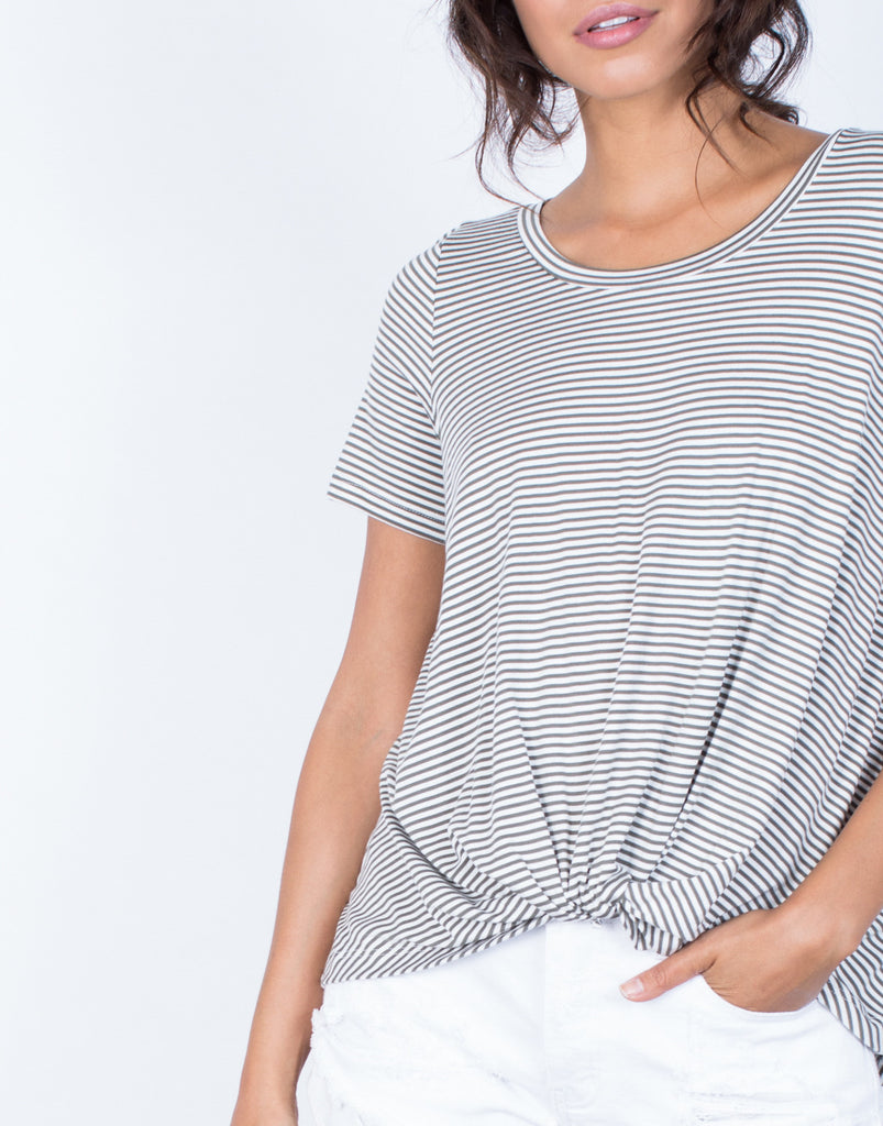 Detail of Do the Twist Tee