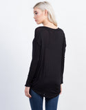 Back View of Dolman Long Sleeve Tee