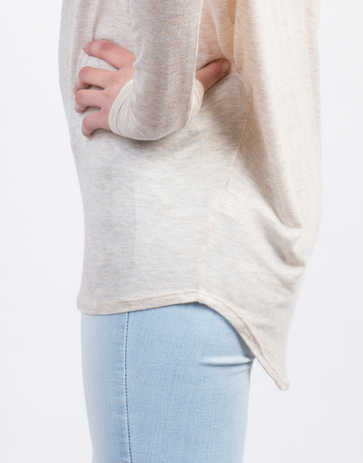 Detail of Dolman Long Sleeve Tee
