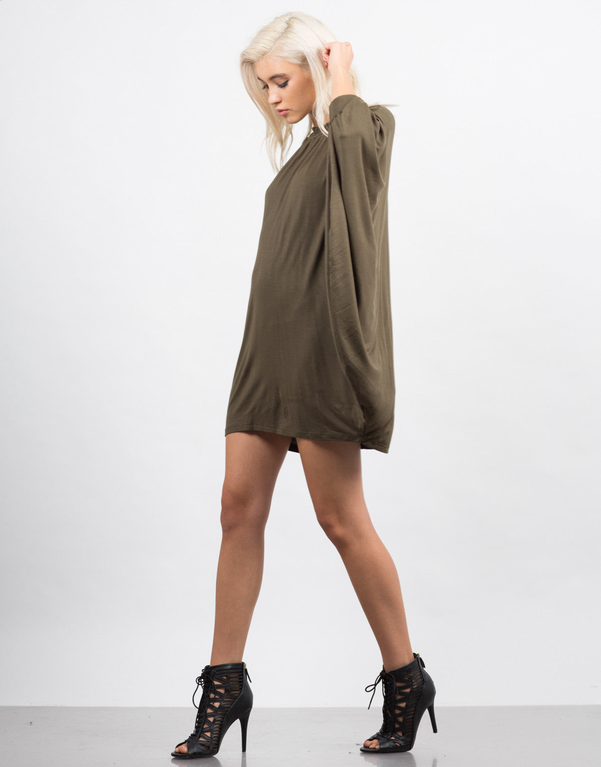 Side View of Dolman Mod Dress